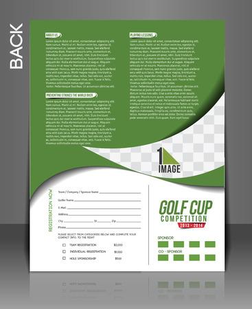 golf tournament: Golf Tournament Flyer & Poster Template