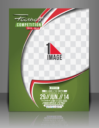 sports event: Football Competition Flyer & Poster Template. Illustration