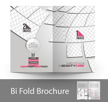 beauty care: Beauty Care & Salon Bi-fold Mock up & Brochure Design