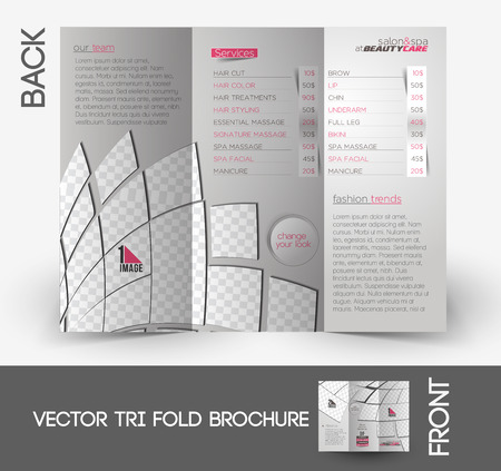beauty care: Beauty Care & Salon Tri-Fold Mock up & Brochure Design