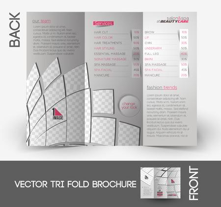 Beauty Care & Salon Tri-Fold Mock up & Brochure Design