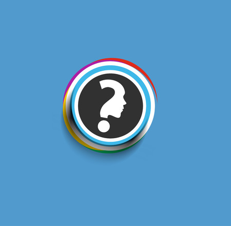 character illustration: Modern stylish colors question mark web icon design element. Illustration