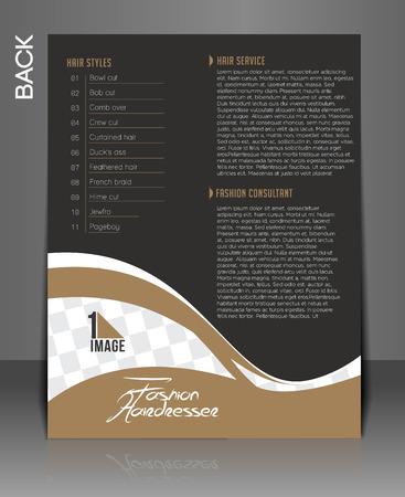 Fashion Hairdresser Flyer & Poster Design. Stok Fotoğraf - 38329117