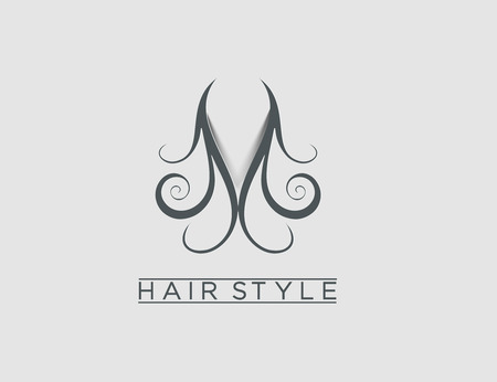 Symbol of Hair Dresser, isolated vector design