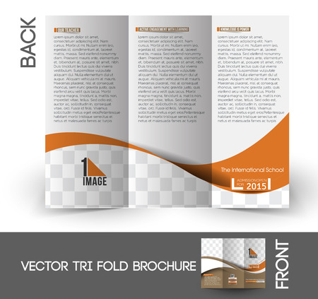 fold back: The International School Tri-Fold Mock up & Brochure Design