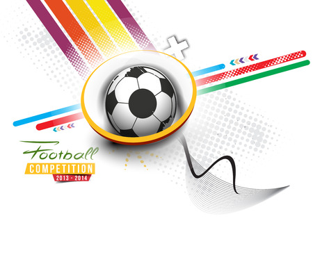 Football Event Poster Graphic Template Vector Background. Ilustracja