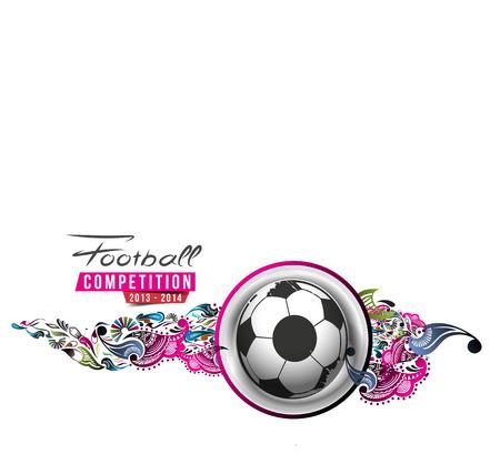 Football Event Poster Grafische Template Vector Achtergrond.