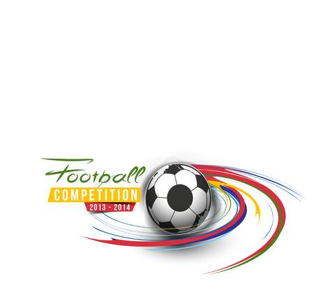 Football Event Poster Grafische Template Vector Achtergrond. Stock Illustratie