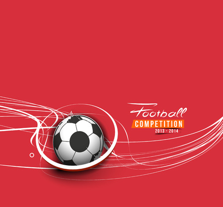 football party: Football Event Poster Graphic Template Vector Background. Illustration