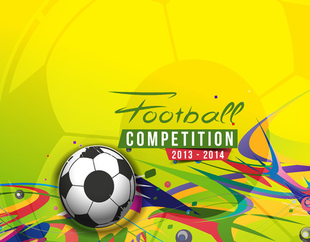 Football Event Poster Graphic Template Vector Background. Illustration
