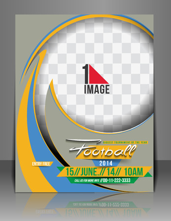 Football Competition Flyer Magazine Cover & Poster Template.