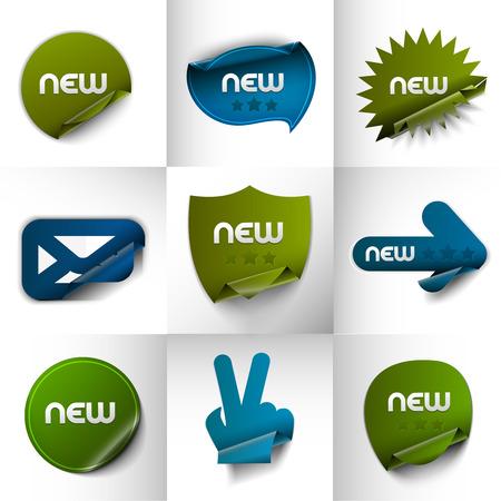 winning location: New Labels, Tag, Sticker Design Element. Illustration