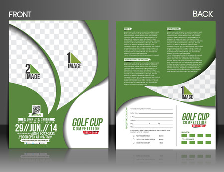 front and back: Golf Tournament Front & Back Flyer Template