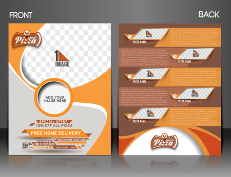 italian pizza: Pizza Shop Front & Back Flyer & Poster Template