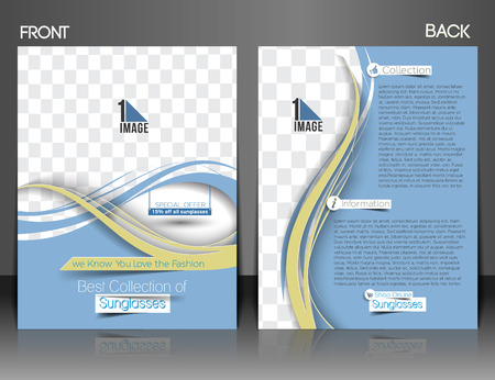 front and back: Optician Sunglasses Store Front & Back Flyer Template.