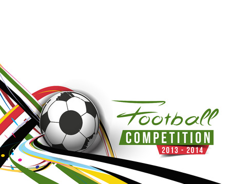 brasil: Football Event Poster Graphic Template Vector Background. Illustration