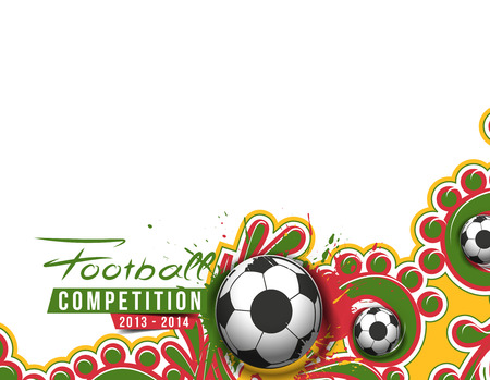 Football Event Poster Graphic Template Vector Background. Vector