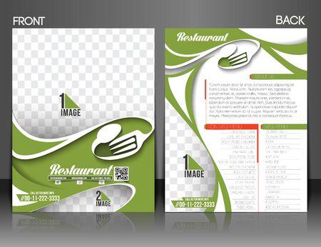 away travel: Restaurant & Hotel Front & back Flyer Template