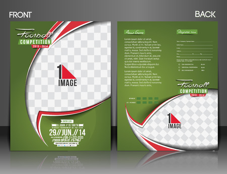 front and back: Football Competition Front& Back Flyer & Poster Template.