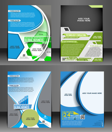 poster template: Corporate Flyer & Poster Template Bundel Vettoriali