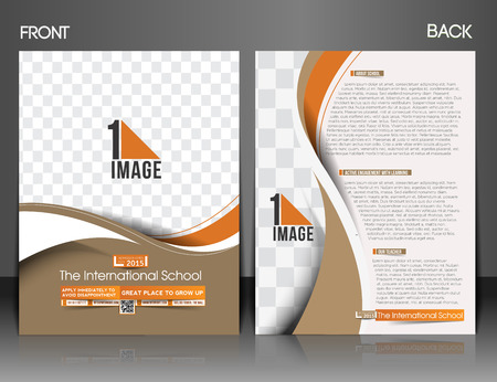 The International School Front & Back Flyer & Poster Template