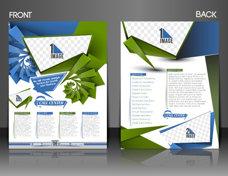front and back: Call Center Front & Back Flyer & Poster Template.