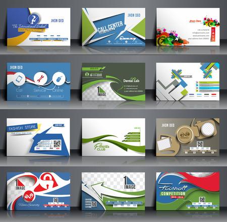 Mega Collection Business Card Design Template. Stock Illustratie