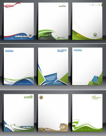 press agent: Nine Business Style Corporate Identity Leterhead Template.