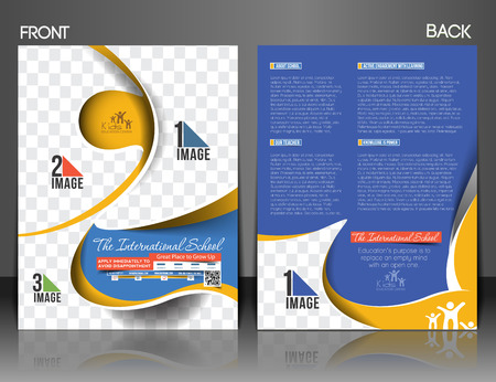 front and back: The International School Front & Back Flyer & Poster Template