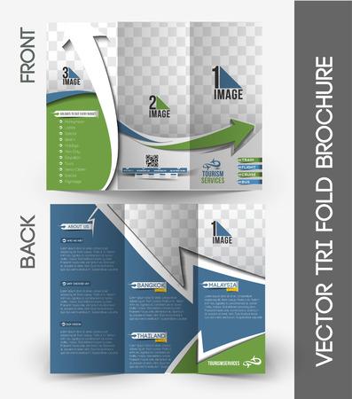 Agent de Voyage Tri-Fold maquette et conception de la brochure.