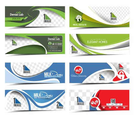 real estate people: Modern Abstract Business Banner Template Bundel