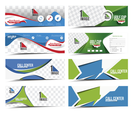 Collection of Sale Discount Styled Website Banner Фото со стока - 38435105