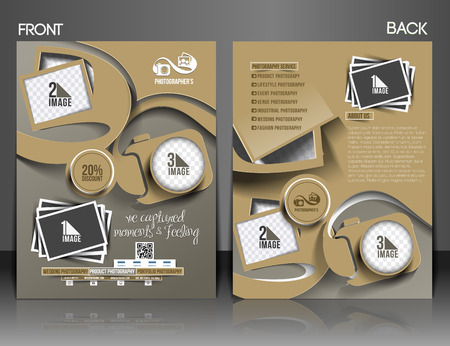 Photography Studio Front Flyer & Poster Template Illustration