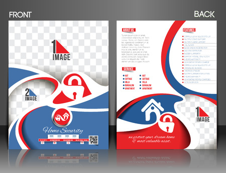 home security: Home Security Center Front & Back Flyer Template