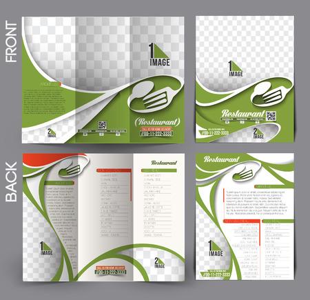 Restaurant & Hotel Flyer & Tri-Fold Brochure Design