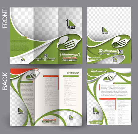 Restaurant & Hotel Flyer & Tri-Fold Brochure Design