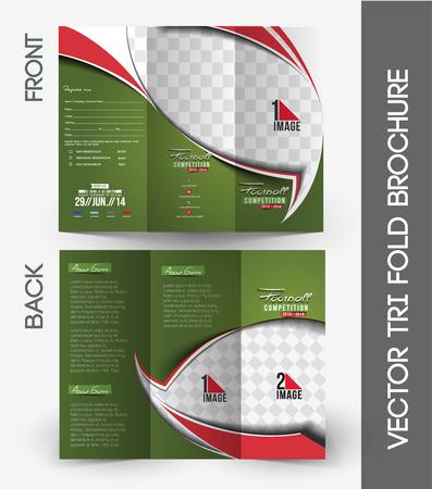 fold back: Football Competition Mock up & Tri-Fold Brochure Design.
