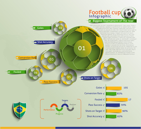 Football Infographic Vector Background. Vector