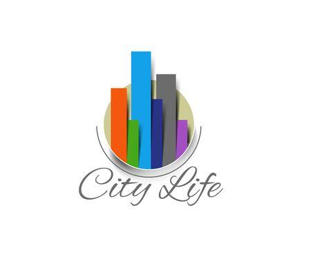 shoping bag: Fashion City Life Logo, Vector illustration.