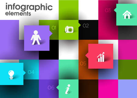 squares background: Abstract squares background illustration for infographic template