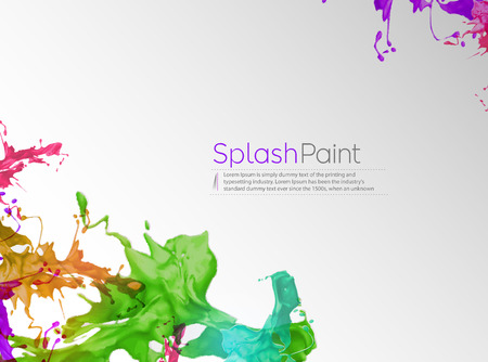 color mixing: Abstract Ink splash Poster Design.
