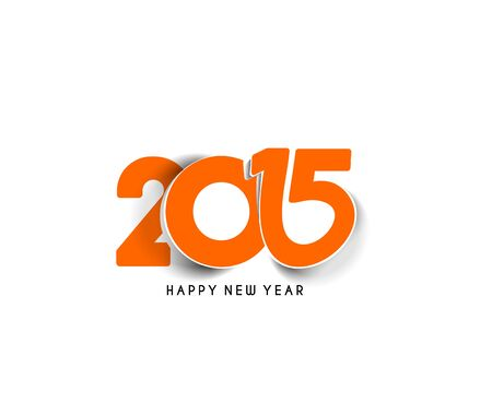 happy new year text: Happy new year 2015 Text Design Illustration