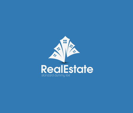 real: Abstract Real Estate Icons and vector logo