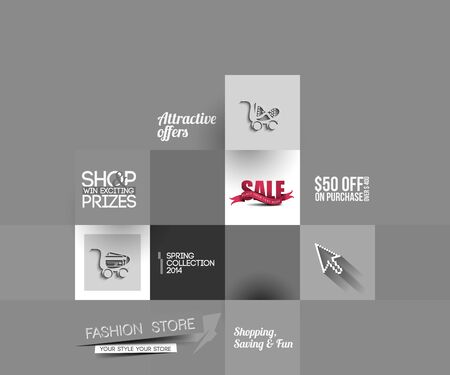 BANNER DESIGN: Abstract Fashion Sale Poster Template For Advertising Use