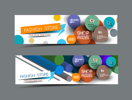 styled: Fashion Sale Discount Styled Website Banner Illustration