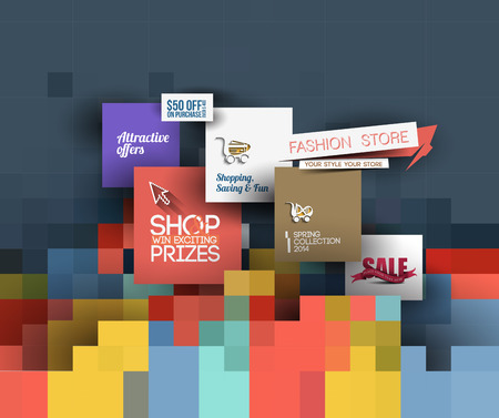 tienda de ropa: Abstract Fashion Sale Poster Template For Advertising Use
