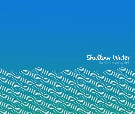 olas de mar: Patrón sin fisuras con las olas estilizadas