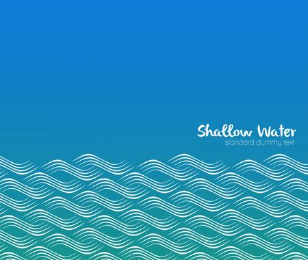 sea waves: Seamless pattern with stylized waves