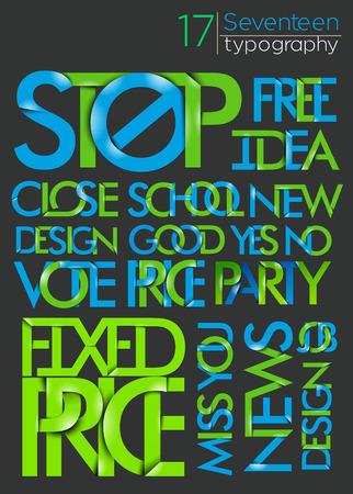 free vote: Set of Alphabet Text Design