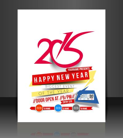 new year party: New Year Party Flyer & Poster Cover Template Illustration